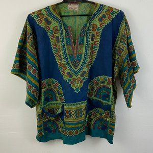 Gypsy Rose Multi Color Tunic with Pockets XXL